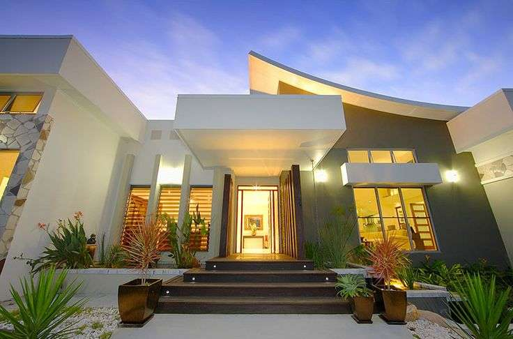 Curved Roof Modern House Top Designs Pinterest