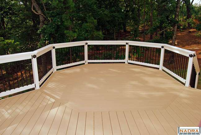 Curved Shaped Azek Inlaid Octagon Deck Peachtree