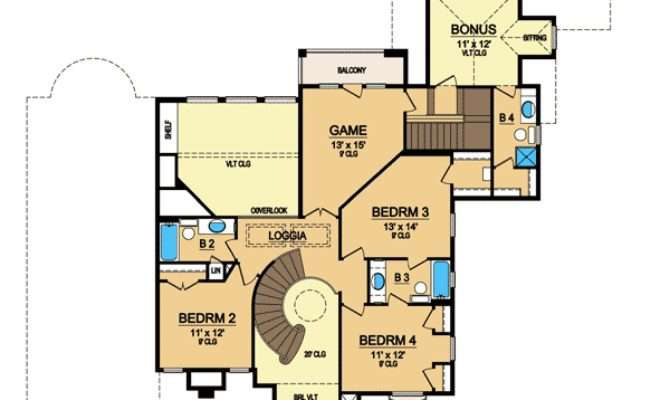 Curved Staircase Floor Master Suite Bonus