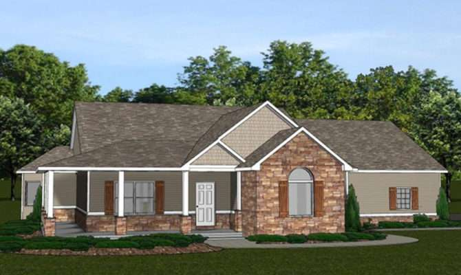 Custom Home House Plan Ranch Basement Car Garage