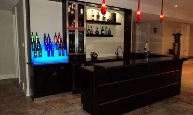 Custom Wet Bar Modern Room Toronto