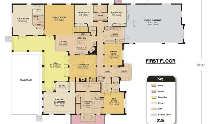 Customized Cayman Floor Plan Custom Home Design