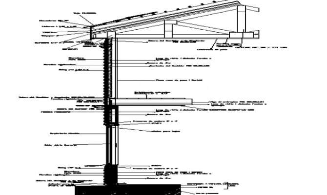 Cut Floor Ceiling Wood Frame Construction Details Dwg