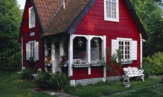 Cute Little Red Cottage Timber Trails Provides Custom