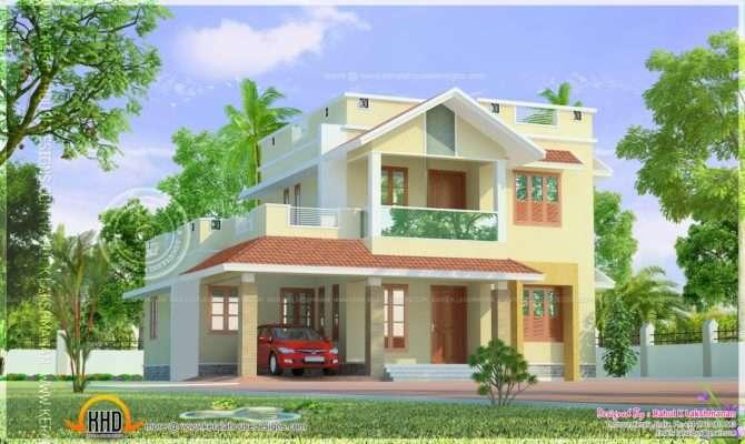 Cute Little Two Storied Home Design Kerala