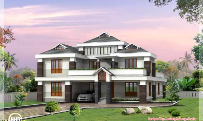 Cute Luxury Indian Home Design Kerala