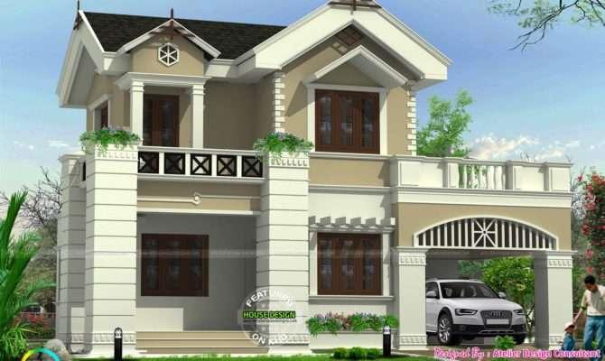 Cute Victorian Model Home Kerala Design Floor Plans