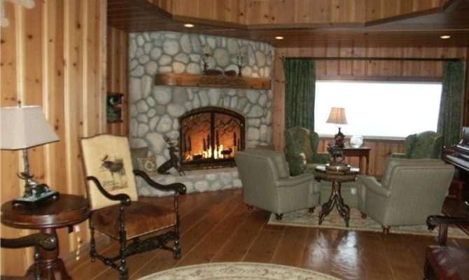 Dark Country Rustic Living Room Pamela Green