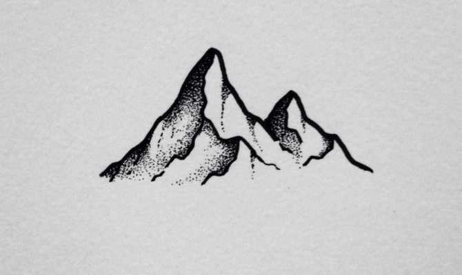 David Rollyn Simple Stippled Mountain Few Days