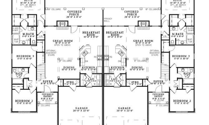 Davis Rustic Duplex Plan House Plans More