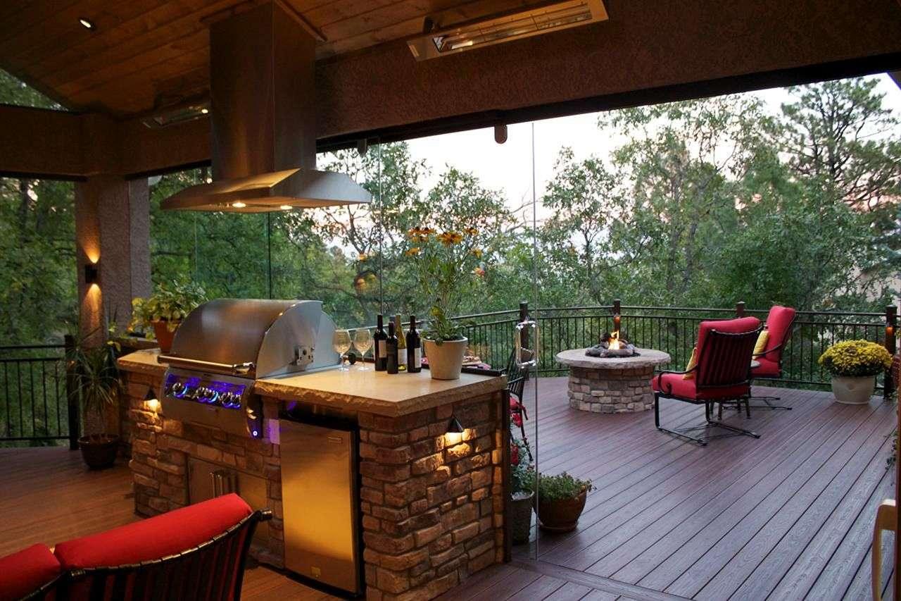 Deck Fire Pit Outdoor Kitchen