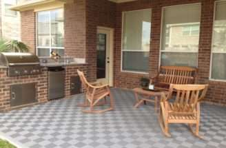 Deck Flooring Patio Perforated Tiles