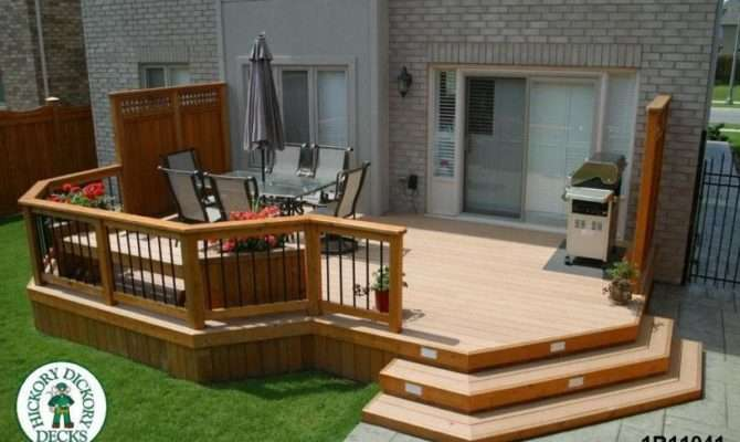 Deck Plan Large Single Level Privacy Screens