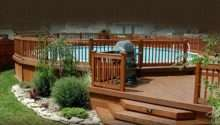 Deck Pool Above Ground Pools Pinterest