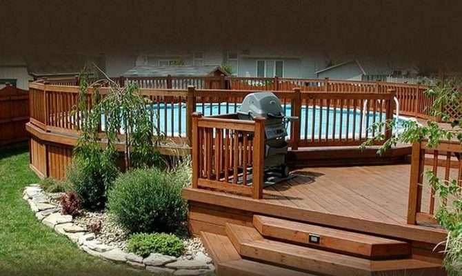 Deck Pool Above Ground Pools Pinterest