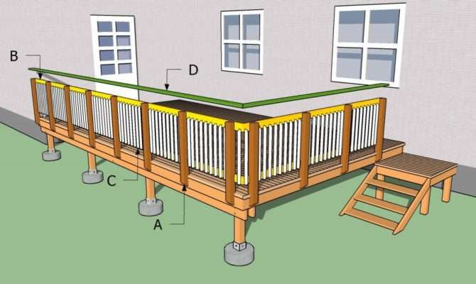 Deck Railings Howtospecialist Build Step Diy Plans