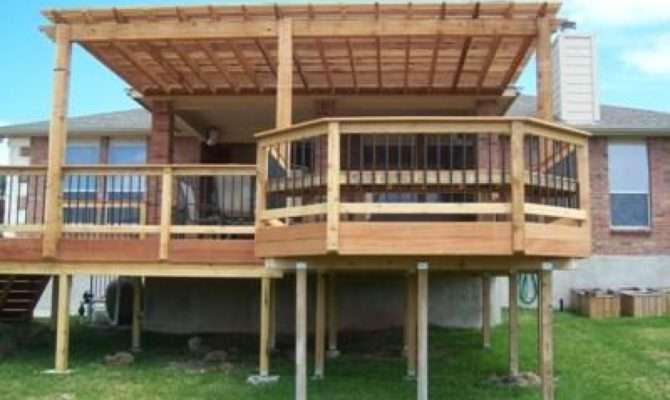 Decks Pergolas Designs Raised Ranch