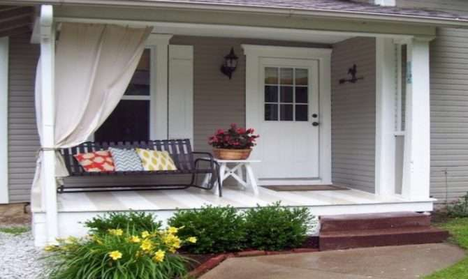 Decorating Small Outdoor Porch Front Designs