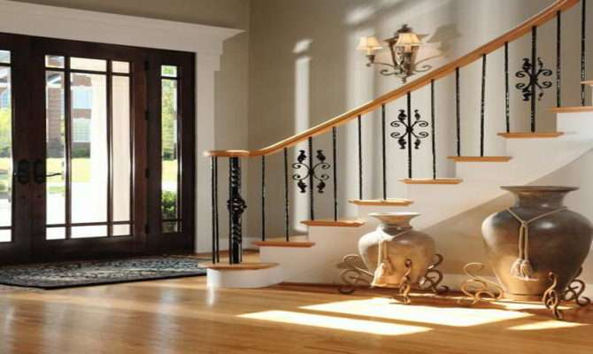 Decoration Foyer Decorating Ideas Wooden Floor Amazing