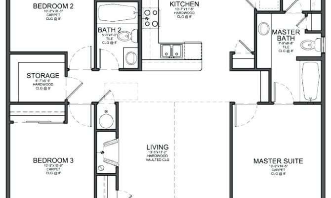 Decoration Simple Bedroom House Plans