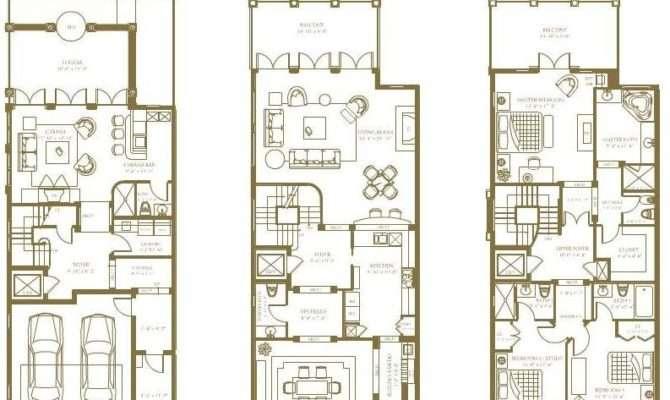 Decorative Luxury Townhouse Plans Building