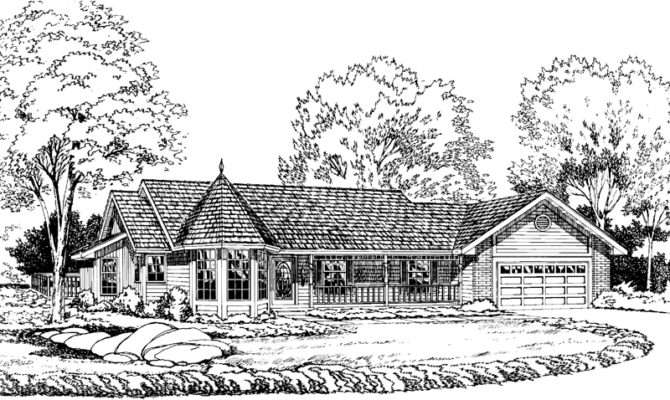 Delightful Victorian Ranch House Plans Building