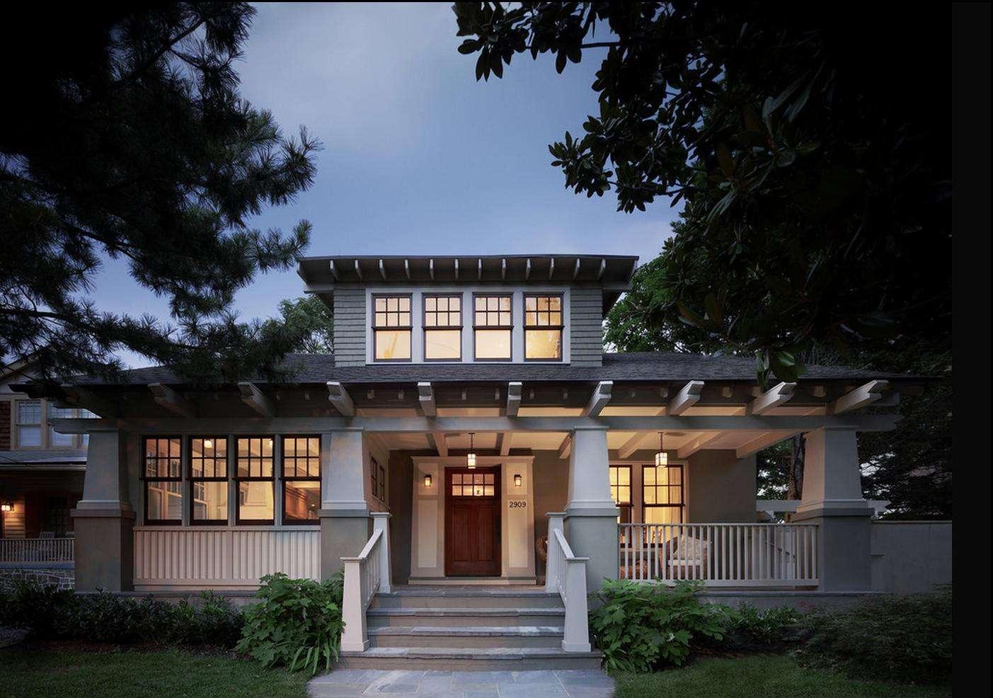 Delorme Designs Craftsman Style Home Wythe Blue