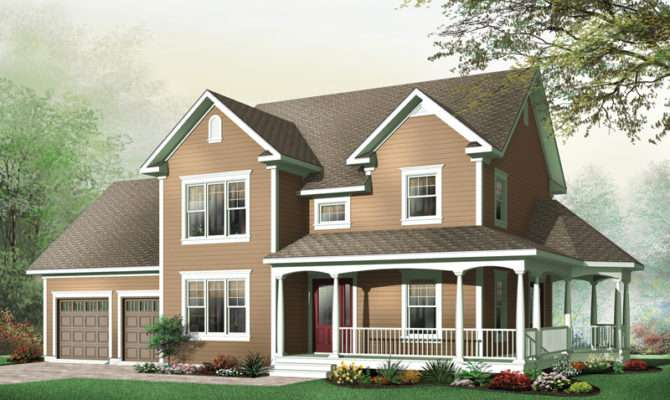 Derosa Two Story Farmhouse Plan House Plans More