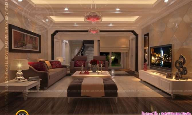 Design Living Room Dining Kitchen Kerala Home