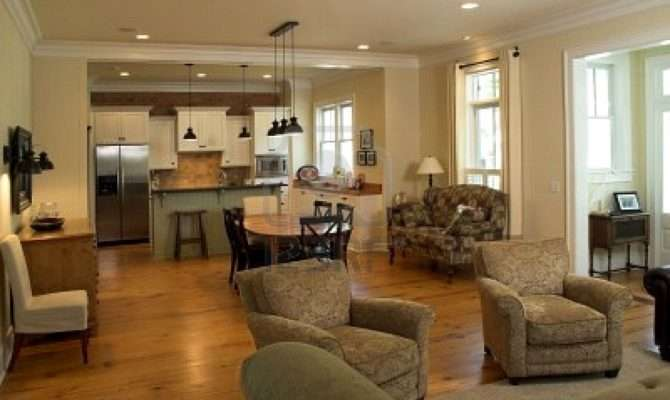 Design Living Room Kitchen Open