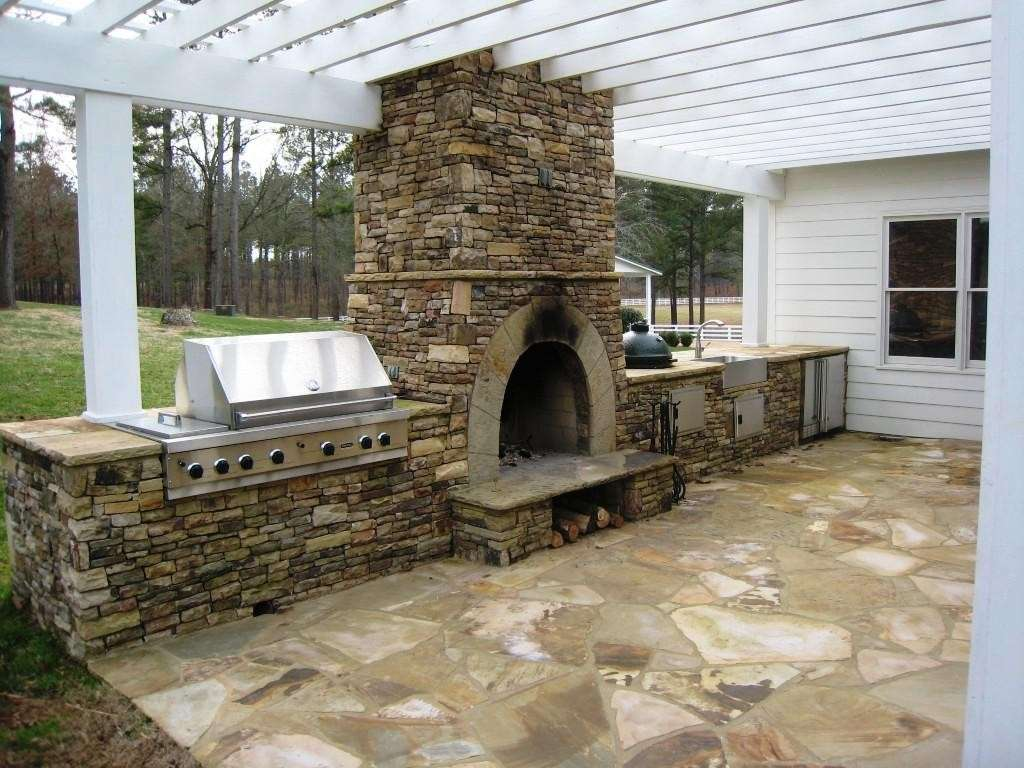 Design Outdoor Kitchen Pizza Oven Make