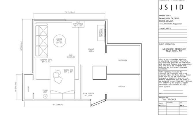 Design Project Studio Apartment Furniture Floor Plan Layout