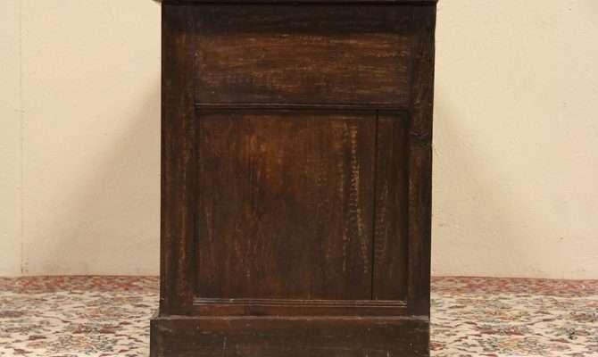 Details French Oak Antique Cabinet Vessel Sink Vanity