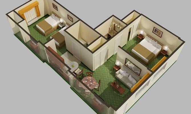 Digital Cutaway Rendered Floor Plan Mlb