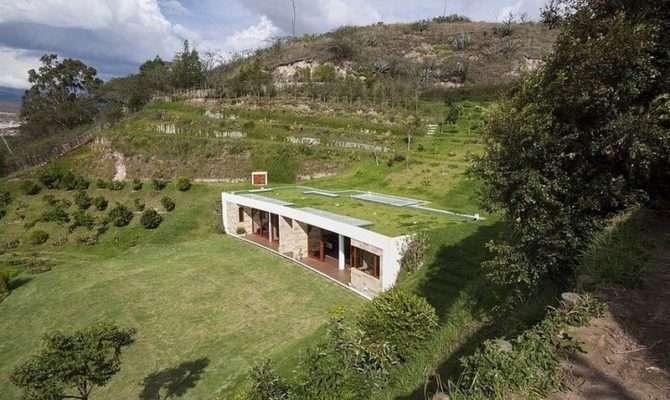 Dissolved Into Landscape Hillside Home Virtually