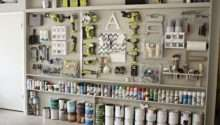 Diy Garage Pegboard Storage Wall Using Only Inches Depth