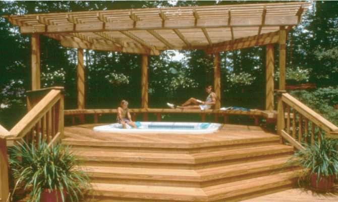Diy Pergola Plans Hot Tub Wooden Pdf Cubby Benches Conscious Jhf