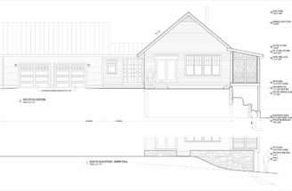 Dody House Exterior Elevation Drawings
