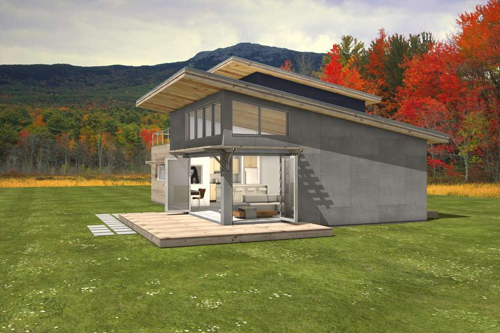 Double Shed Roof House Plans Cabin