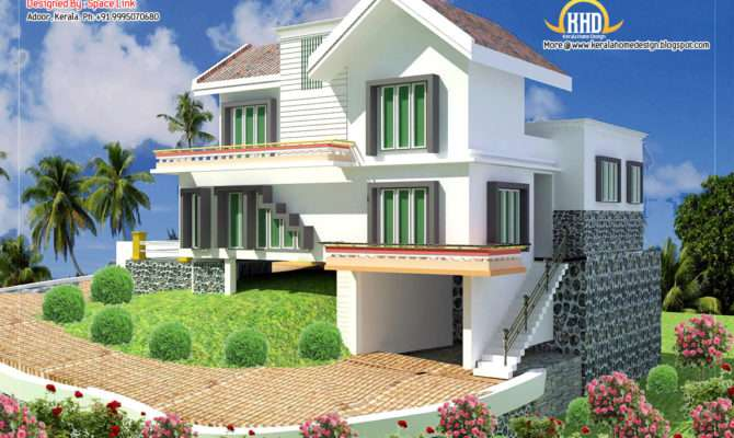 Double Storey Home Designs Kerala