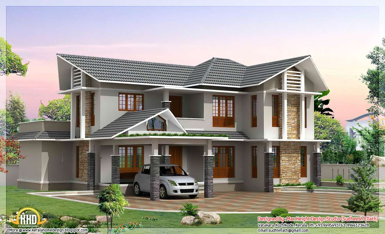Double Storey House Kerala Home Design Floor Plans