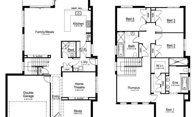 Double Storey House Plans