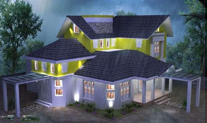 Double Storied Modern Home Design Veeduonline