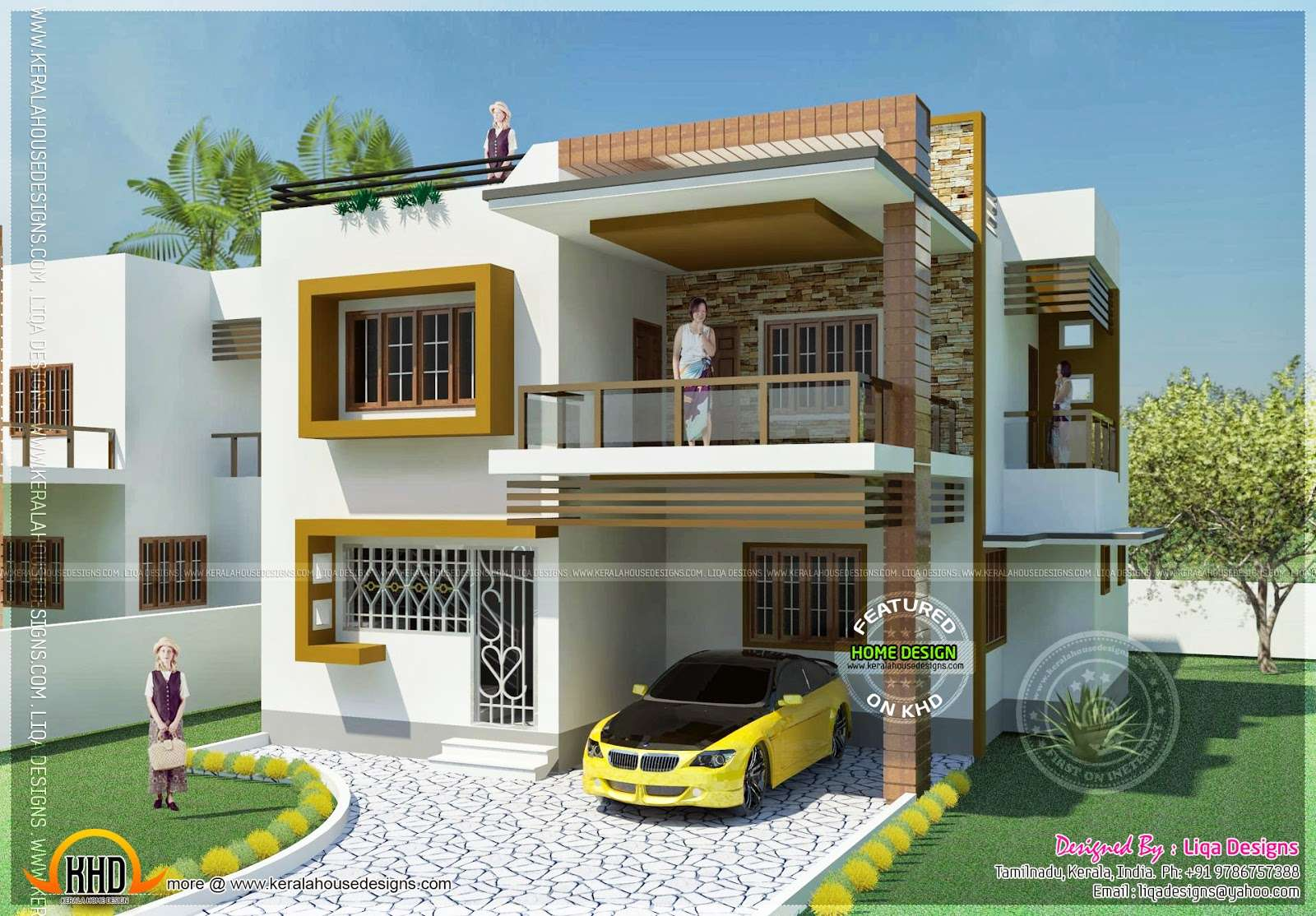Double Storied Tamilnadu House Design Kerala Home Floor