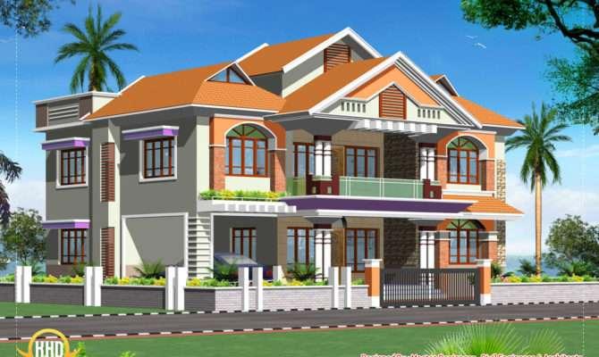 Double Story Luxury Home Design Kerala