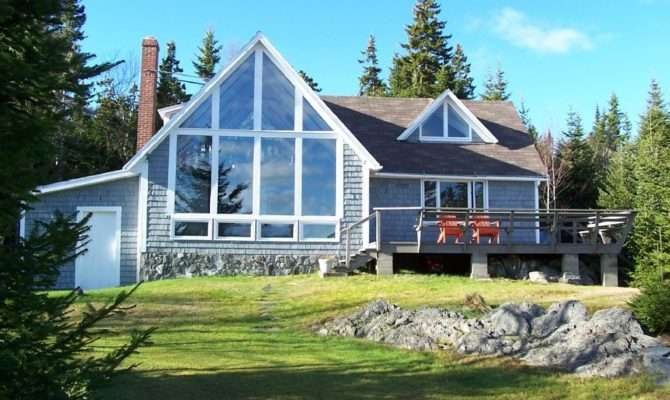 Down East Bold Coast Oceanfront Chalet Style Home