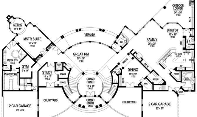 Dramatic Circular Foyer Architectural Designs