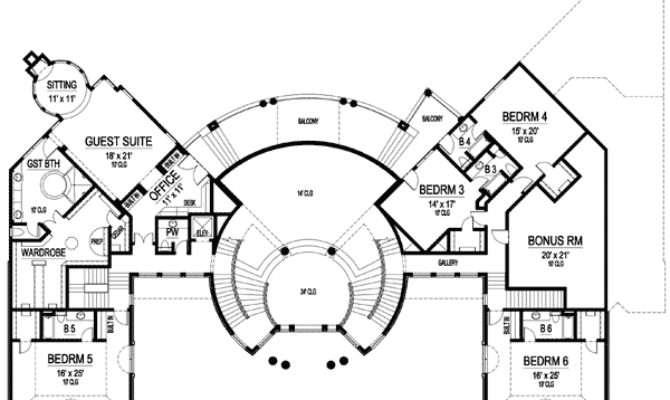 Dramatic Circular Foyer Floor Master Suite