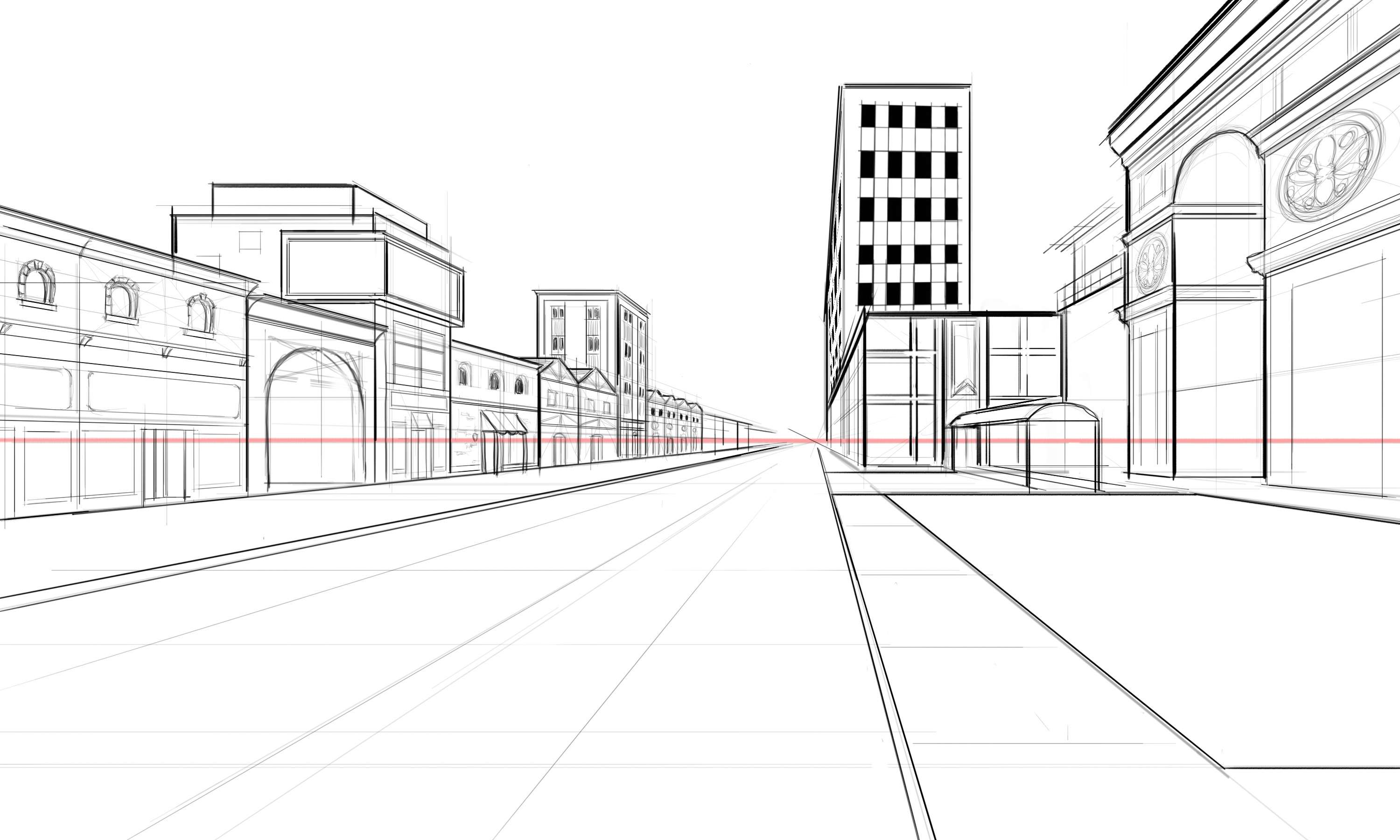 Draw Architectural Street Scenes