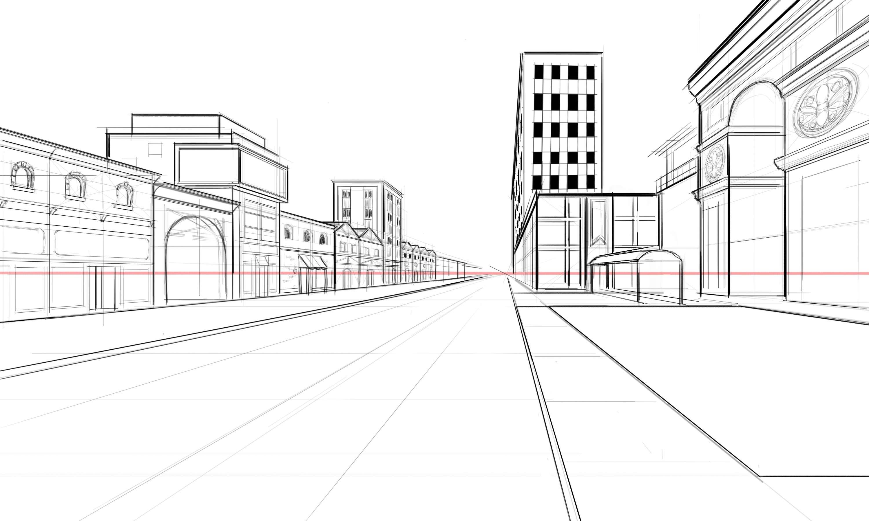 Draw Architectural Street Scenes